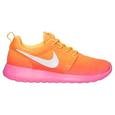 atbjmk Nike Kids Roshe Run Glow (Little Kid/Big Kid) Hyper Punch/White