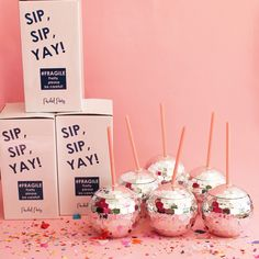 Sip, Sip, YAY! Nothing is better than having the cutest tumbler to drink out of! Who could say no to drinking out of a tumbler literally shaped as a Disco ball?! Grab your Disco Drink tumbler (20 oz hot or cold drink) at Packed Party!