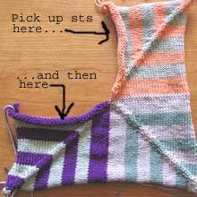 seamless mitered-square blanket instrux