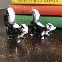 Excited to share this item from my shop: Kitchy Skunk couple hard plastic figurines miniature figurines Cute skunks Skunks, Miniature Figurines, Mid Century Modern Design, Midcentury Modern, Kitsch, Vintage Items, Miniatures, Plastic, Etsy Shop