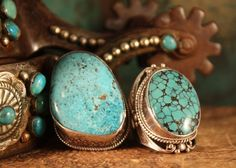 BEAUTIFUL TURQUOISE/STERLING RINGS!