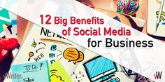 Social media for business is now a must-have. This post gives you 12 big benefits on why social media MUST be an essential part of your marketing. Content Marketing, Digital Marketing, Quotations, Benefit, Social Media, Feelings, Sayings, Big, Business