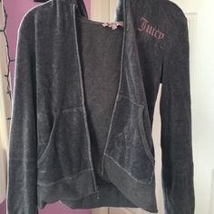 barley worn juice jacket grey juice jacket with pink lable on front Juicy Couture Jackets & Coats