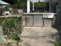 Bluestone Bbq, Outdoor Wet Bar Outdoor Kitchen Stout Design Build Los Angeles, CA
