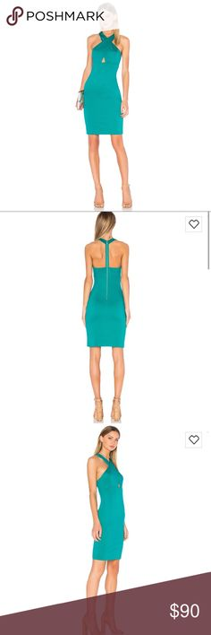 NWT $264 Alice + Olivia Tai Turquoise Midi Dress Gorgeous Midi Dress. Brand new with tags women size 4. Alice + Olivia from Revolve Clothing. $264 retail. Pretty turquoise color Alice & Olivia Dresses Midi