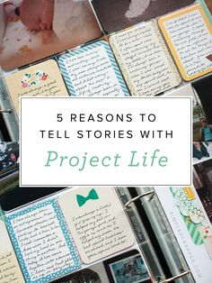 Think the Project Life scrapbook format isn't for you? 5 Reasons to Tell Stories with Project Life