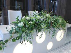 メインテーブル Bridal Table, Wedding Table, Table Arrangements, Flower Arrangements, Long Table Decorations, Wedding Colors, Wedding Styles, Wedding Bouquets, Wedding Flowers