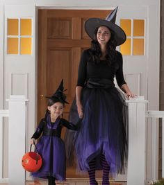 Adorable mother & daughter witch costumes!