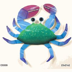 Crab Blue Large  from tropicalwallart.com