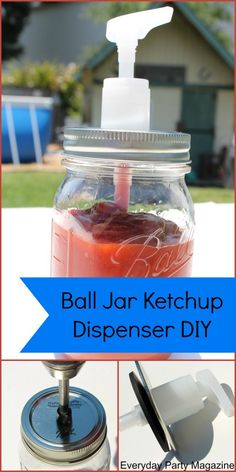 Ball Canning Jar Dispenser DIY - Everyday Party Magazine