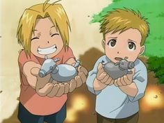 Little Ed and Al from Fullmetal Alchemist.