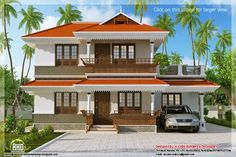 Plan Online Home Design Free with Elevation - Kerala Traditional Latest 3 BHK House Extra Ordinary Modern Collections & Images, 2 Story 2170 sq ft Free House Design, Simple House Design, House Plans With Pictures, House Design Pictures, Online Home Design, Home Interior Design, 4 Bedroom House Plans, Kerala House Design, Home Design Floor Plans