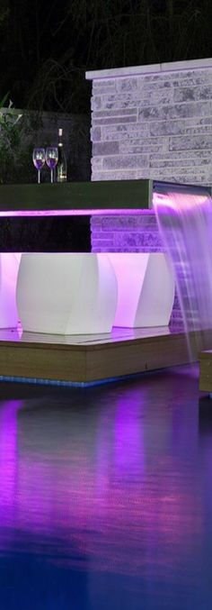 Waterfall Table at the pool- ~LadyLuxury~