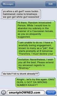 Drunk text happens to me all the time. Unfortunately, I'm normally the initial texter...