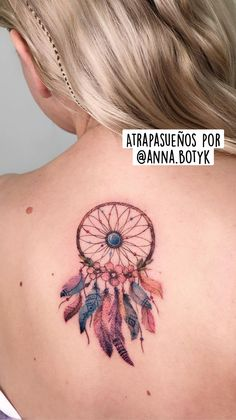 E Tattoo, Back Tattoo, Body Art Tattoos, Girl Tattoos, Tattoos For Women, Dainty Tattoos, Small Tattoos, Beautiful Dream Catchers, Dream Catcher Tattoo
