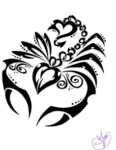scorpio tattoos | Scorpio Tribal Tattoo. Where my family is from the  Scorpion Is the city symbol.
