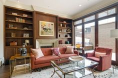 Doesn't this perfect home library just make you want to grab a book or newspaper and read? This study room is bright and functional thanks to the floor to ceiling windows and built in book shelves. Chicago, IL Coldwell Banker Residential Brokerage $2,775,000