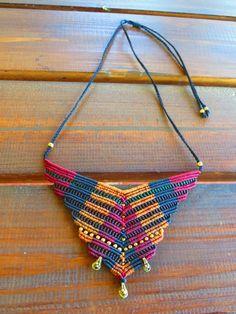 fancy macrame necklace by MacraMogly on Etsy                                                                                                                                                      More