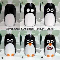 Adventures In Acetone: penguin  #nail #nails #nailart