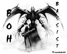 BOHさん(`・ω・´)かっこいい!! #神バンド #@BassistBOH    #BABYMETAL  #BABYMETAL_FANART