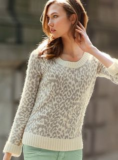 NEW! Leopard-print Sweater #VictoriasSecret http://www.victoriassecret.com/clothing/all-sweaters/leopard-print-sweater?ProductID=82459=OLS?cm_mmc=pinterest-_-product-_-x-_-x