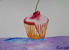 Mira este artículo en mi tienda de Etsy: https://www.etsy.com/es/listing/586912340/original-watercolorrich-cupcakecakes