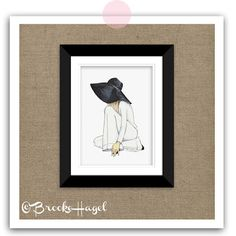 Framing artwork thats important to you. #ThingsThatMatter Fashion Illustration by Brooke Hagel