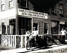 New England Motorcycle Dealer Harley Davidson Vintage 8x10 Reprint Of Old Photo
