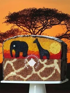 inside of safari cake- how? ...Wow this amazing!!!