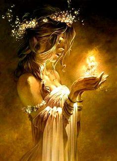 Mein Feuer ist heller und wärmer. Es bricht die Dunkelheit durch Licht und zerstört die Kälte mit Wärme. Ich bin das 1. Element   Feuer