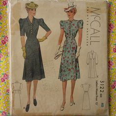 McCall 3122 | 1939 Ladies' & Misses' Dress