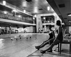 Chateau Laurier - The Chateau's indoor swimming pool was a marvel for its time, an attraction to both hotel guests and residents of Queen Elizabeth Hotel, Canadian National Railway, York Hotels, Park Lodge, Leading Hotels, Indoor Swimming Pools, Quebec City, Concert Hall, Grand Hotel