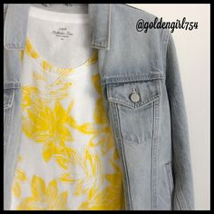 J Crew Printed Tee Collector tee in yellow floral. Soft cotton, fits xs-s. J. Crew Tops Tees - Short Sleeve