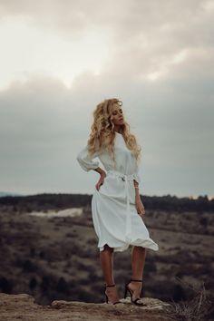 White dress: Mango, Heels: Yves Saint-Laurent …text under construction. Art Director, Yves Saint Laurent, White Dress, Stylists, Photography, Dresses, Style, Fashion, Vestidos