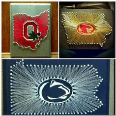 Filling more Etsy Orders!!! State String Art, Iowa State, Cyclones, The Ohio State, Buckeyes, Penn State, Pennsylvania, Lion