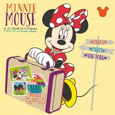 Minnie Mouse Wall Calendar | $14.99 | Minnie Mouse has been Mickey's girlfriend since 1928. She remains a classic teen icon adorning apparel, accessories, and bedroom decor. Minnie Mouse strikes a fashionable, flirty poses in the too-cute Minnie Mouse Wall Calendar. Spend the year with Minnie Mouse in this high fashion calendar.