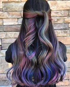 Top 40 Opal oil slick hair color Top 40 Opal oil slick hair color 2018 – Reny styles - Station Of Colored Hairs Hair Color 2018, Ombre Hair Color, Purple Hair, Oil Slick Hair Color, Cool Hair Color, Wild Hair Colors, Edgy Hair Colors, Different Hair Colors, Underlights Hair
