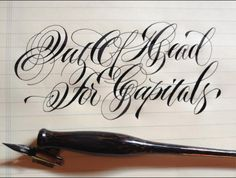 off hand writing | da Barbara Calzolari