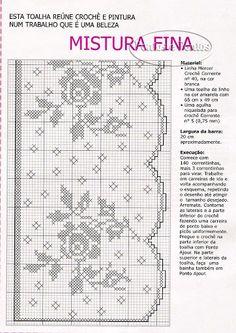 crochet - bicos - barrados - edgings - Raissa Tavares - Álbuns Web Picasa