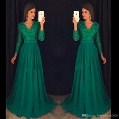 Green Lace Long Sleeve Prom Dresses 2017 V Neck Pearls Sexy Open Back Cheap Prom Dress Formal Pageant Gowns Prom Dresses Green Prom Dresses Long Sleeve Prom Dresses Online with $138.29/Piece on Fashionhouse2020's Store | DHgate.com