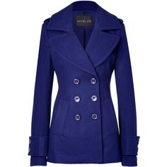 RACHEL ZOE Royal Blue Wool-Blend Fay Pea Coat ($670). Oh wow can I have this but cheaper?