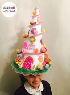 This a fantastically mad helter-skelter hat! If you're up for creating something beautiful (or bonkers) with your little one, we've got 10 brilliant Easter bonnet ideas to help you get started. Chicks and mini-eggs at the ready ...