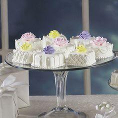 Pretty Petit Fours Mini Cakes