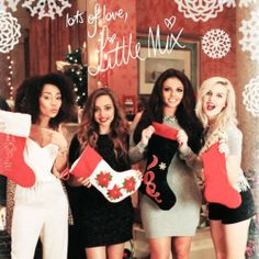 Little Mix Christmas Photoshoot