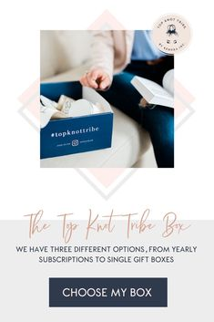 Looking for a subscription box to give as a Christmas gift this year? TOP KNOT TRIBE BOX:THE BOX THAT ARRIVES ON YOUR DOORSTEP—PACKED FULL OF HIGH-QUALITY PRODUCTS. VALUED AT $150+ PER BOX.  WITH YOUR TRIBE BOX, YOU'LL FIND NEW PRODUCTS TO LOVE AND HELP SUPPORT WOMEN GOING AFTER THEIR DREAMS. Annual tribe subscription box options, seasonal tribe subscription box options, one time subscription box option. #bestsubscriptionboxoptions Opening A Boutique, Best Subscription Boxes, Starting Your Own Business, Top Knot, Choose Me, Dream Big, Entrepreneurship, Lesson Plans, Work Hard