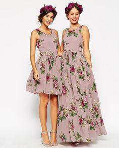 Ainda sobre madrinhas de floral!  Looks perfeitos para casamentos ao ar livre! ⠀ Curta no Facebook: Blog Amor Mais Amor Acesse: www.blogamormaisamor.com ⠀ Vestidos: @asos