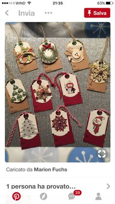 New Pins, Christmas Tag, Christmas Ornament