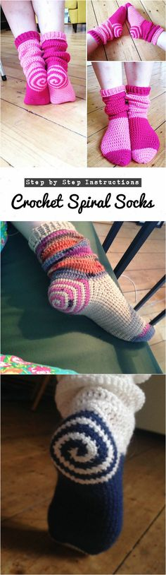 Crochet Spiral Socks – Late Night Crafting