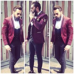 Mens Fashion Suits, Fashion Pants, Mens Suits, Mens Sherwani, Indian Groom Wear, Stylish Suit, Leather Pants, How To Wear, Style