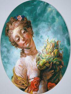 Glenn Brown - Tart Wit, Wise Humor, 2007. Art Experience:NYC http://www.artexperiencenyc.com/social_login
